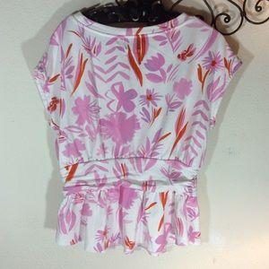 Anthropologie Tops - Anthropologie Postmark Hawaiian Sweatshirt Blouse